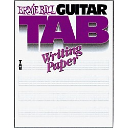 Ernie Ball Guitar Tab Writing Paper (P07021)