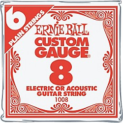 Ernie Ball Nickel Plain Single Guitar String (P00008)