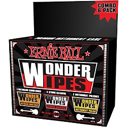 Ernie Ball Wonder Wipe Variety 6-pack (P04279)