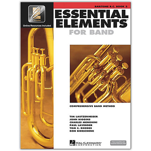 Hal Leonard Essential Elements for Band - Bariton B.C. (Book 2 with EEi)-thumbnail