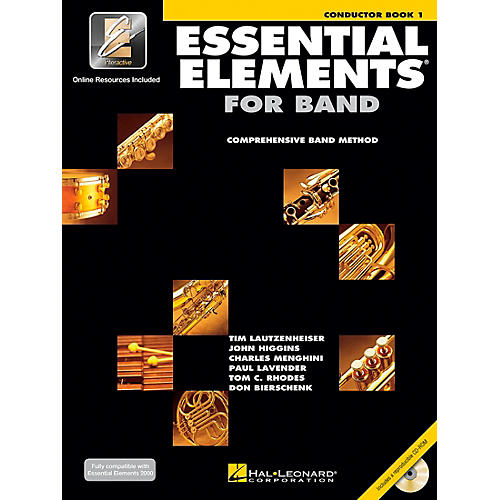 Hal Leonard Essential Elements for Band - Conductor Score (Book 1 with EEi and CD-ROM)-thumbnail