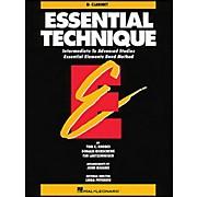 Hal Leonard Essential Technique B Flat Clarinet Intermediate To Advanced Studies