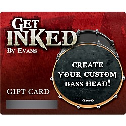 Evans Inked by Evans Custom Bass Head Gift Card (INKCARDB)