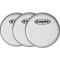 "Evans MX White Tenor Drumhead 6"" Shot 3-Pack (KIT - 430735)"