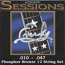 Everly 7210-12XL Acoustic Sessions Phosphor/Bronze Extra Light 12-String Guitar Strings (7210-12)