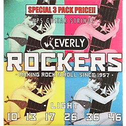 Everly Rockers Electric Guitar Strings Light 3-Pack (90103)