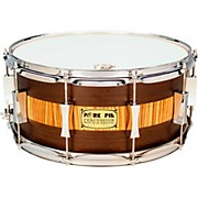 Pork Pie Exotic Rosewood Zebrawood Snare Drum