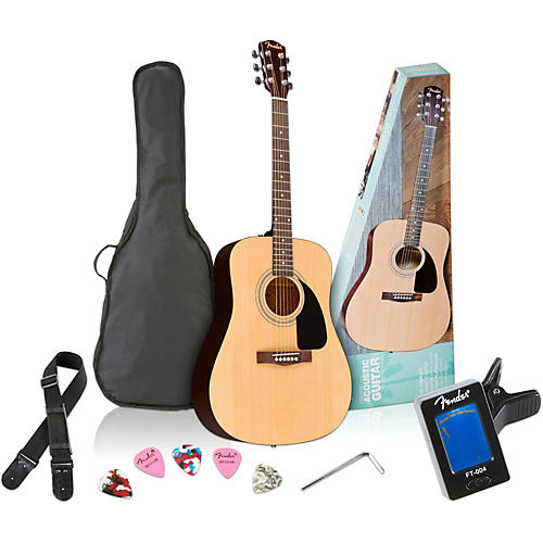Fender FA-100 Acoustic Guitar Pack Natural