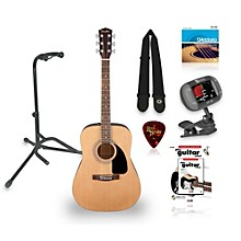 Fender FA-100 Acoustic Guitar with Gig Bag Bundle