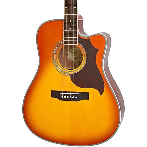 Epiphone FT-350SCE Acoustic-Electric Guitar with Min-Etune Violinburst-thumbnail