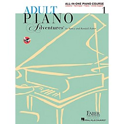 Faber Music Adult Piano Adventures All-In-One Lesson Book 1-A Comprehensive Piano Course - Faber Piano (420242)