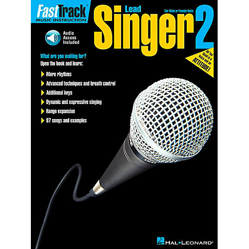Hal Leonard FastTrack Lead Singer Method Book 2 Book/CD-thumbnail