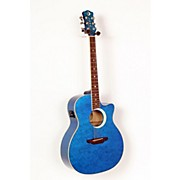 Luna Guitars Fauna Eclipse Grand Concert Acoustic-Electric Guitar