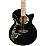Luna Guitars Fauna Phoenix Folk Style Cutaway Acoustic-Electric Guitar