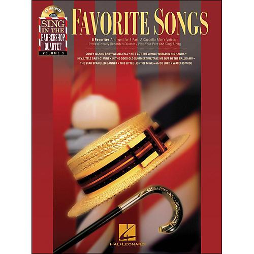 Hal Leonard Favorite Songs - Sing In The Barbershop Quartet Series Vol. 3 Book/CD-thumbnail