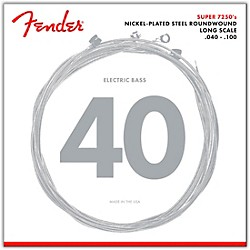 Fender 7250L Super Bass Nickel-Plated Steel Long Scale Bass Strings - Light (0737250403)