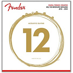 Fender 880L Coated 80/20 Bronze Acoustic Guitar Strings - Light (0730880303)