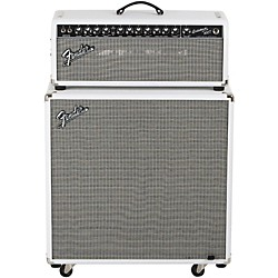 Fender Bassman Pro 100T 100w Tube Bass Head and 4x10 Neo Bass Cab (bm pro - super white)