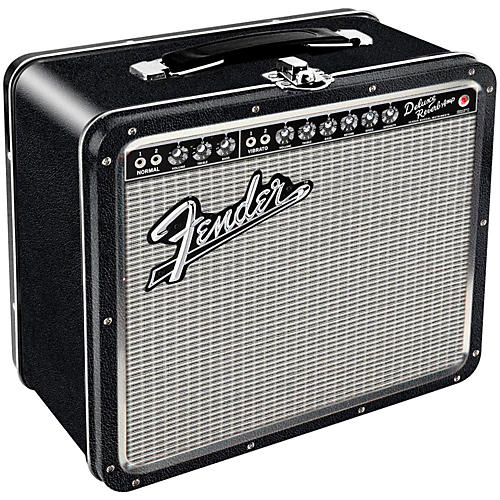 Hal Leonard Fender Black Tolex Metal Lunch Box-thumbnail