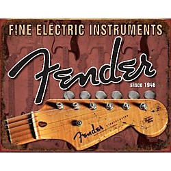 Fender Headstock Tin Sign (9190670306)