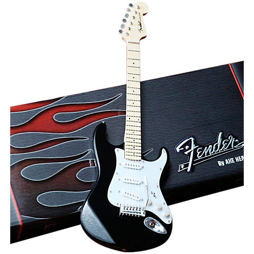 Axe Heaven Fender Stratocaster Classic Black Miniature Guitar Replica Collectible-thumbnail