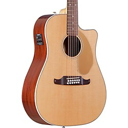Fender Villager SCE Solid Top 12-String Acoustic Electric Guitar (0968607021)