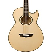 Washburn Festival EA20 Spruce Top Acoustic Cutaway Electric Mini Jumbo Flame Maple Guitar with 4-Band EQ