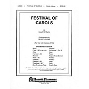 Shawnee Press Festival of Carols (Full Orchestration) Score & Parts composed by Joseph M. Martin