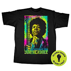 Fifth Sun Jimi Hendrix Experience Tour Black Light T-Shirt (JHKF00232XL)