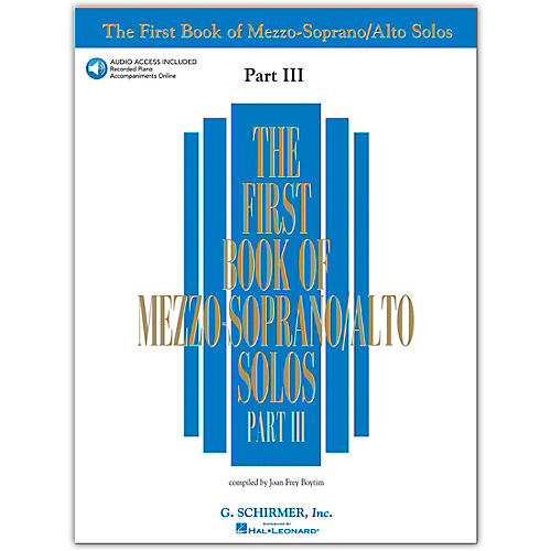 G. Schirmer First Book Of Mezzo-Soprano / Alto Solos Part III Book/2CD's
