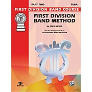 Alfred First Division Band Method Part 2 Bass (Tuba)
