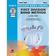 Alfred First Division Band Method Part 2 Oboe
