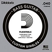 D'Addario FlexSteels Long Scale Bass Guitar Single String (.040)