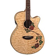 Luna Guitars Flora Rose Folk Acoustic-Electric Guitar