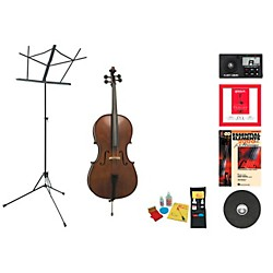 Florea Model Recital II Beginner Student 3/4 Cello Bundle (RecitalIIVC34-123 Kit)