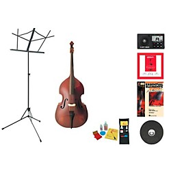 Florea Model Recital II Beginner Student 3/4 Double Bass Bundle (RecitalIIDB34-123 Kit)