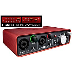 Focusrite Scarlett 2i2 USB Audio Interface (AMSSCARLETT2I2)