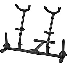 Titan Folding Alto and Tenor Double Saxophone Stand with Double Flute or Double Clarinet Peg