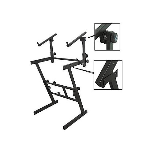 On-Stage Stands Folding Heavy-Duty Dual-Tier Z Stand-thumbnail