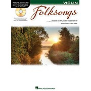 Hal Leonard Folk Songs For Violin  Instrumental Play-Along Book/CD