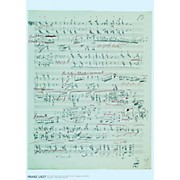 Axe Heaven Franz Liszt Music Manuscript Poster - Piano Sonata in B minor