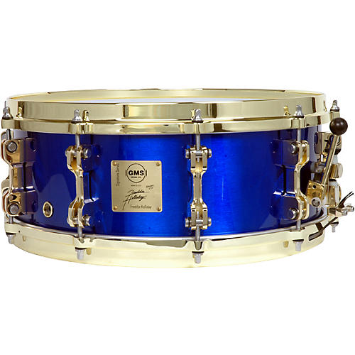 GMS Freddie Holliday Signature Snare Drum Cobalt Blue 5.5X14-thumbnail