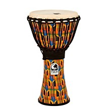 Toca Freestyle Kente Cloth Rope Tuned Djembe