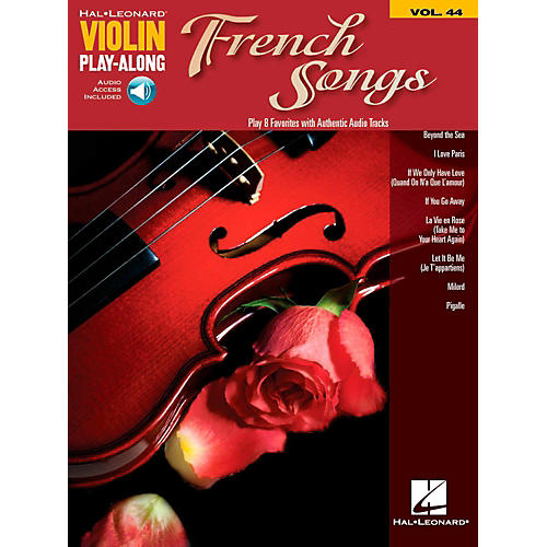 Hal Leonard French Songs Violin Play-Along Volume 44 Book w/ Online Audio-thumbnail