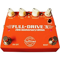 Fulltone Custom Shop 20th Anniversary Limited Edition Full Drive 3 Dual Overdrive Guitar Effects Pedal (CSFD3)