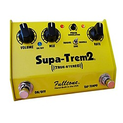 Fulltone Custom Shop CS Supa-Trem2 Stereo Tremolo w/ Tap Tempo Guitar Effects Pedal (CSST-2)