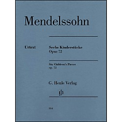 G. Henle Verlag 6 Children's Pieces Op. 72 For Piano Solo By Mendelssohn (51480914)