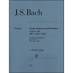 G. Henle Verlag 6 Sonatas And Partitas BWV 1001-1006 For Violin By Bach (51480356)