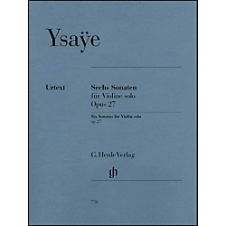 G. Henle Verlag 6 Sonatas For Violin Solo Op. 27 By Ysaye (51480776)
