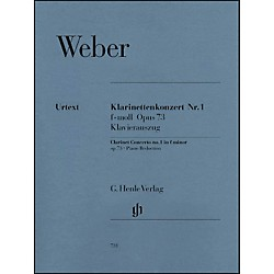 G. Henle Verlag Clarinet Concerto No. 1 in F minor, Op. 73 By Weber (51480731)